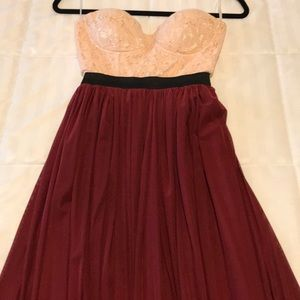 Long Strapless Dressed- Size Small